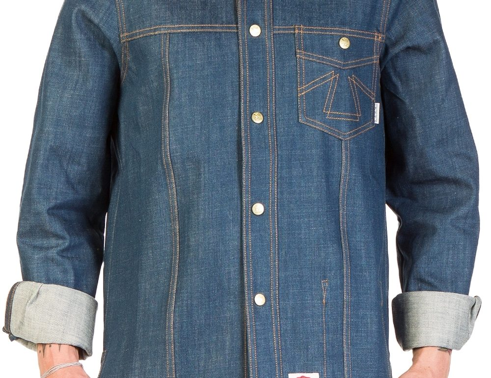 Eat Dust Cash Wolf Denim Overshirt