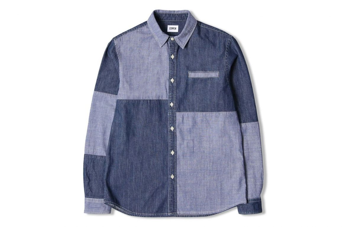 Edwin Jeans Colour Block Better Shirt Blue