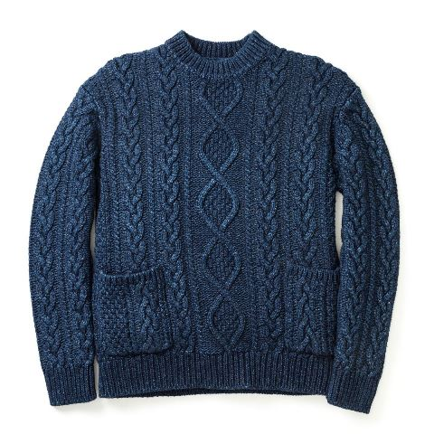 Real McCoy's Indigo Aran Sweater