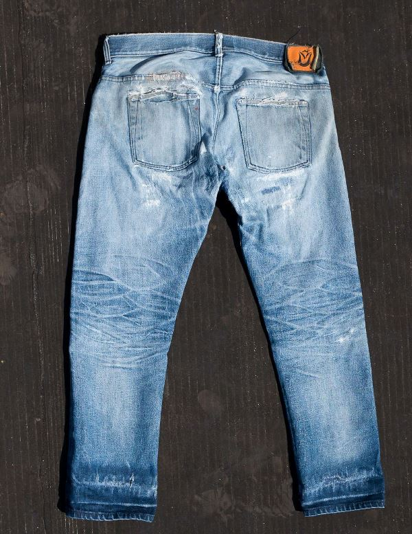 Image result for faded and worn out denim jeans