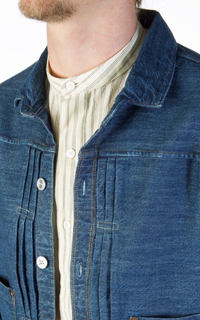 Levi S Vintage Clothing 1880 Triple Pleat Blouse Rinsed
