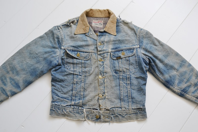 fe6ab080 This Lee Jeans Stormrider jacket is a perfect example of the beauty of aged  denim.
