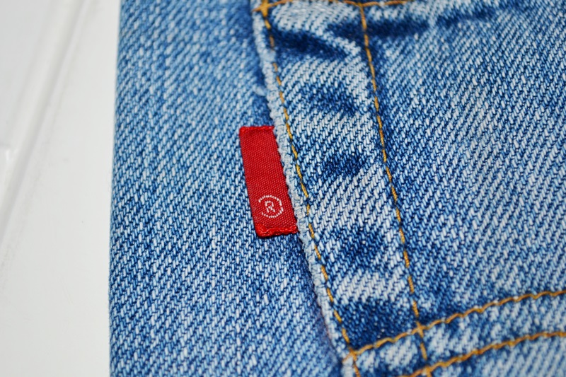 664a13b15d1 Blank Red Tab of a pair of vintage Levi s Jeans from the early  70 s. See  more shots of this pair here.