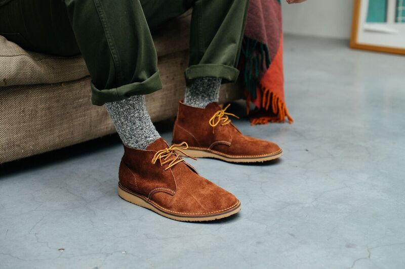 red wing 3326 Weekender Chukka Red