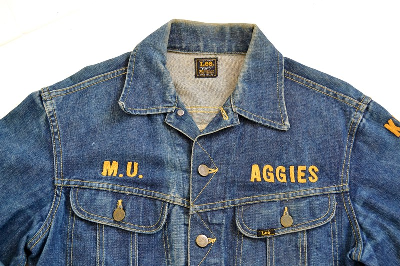 Vintage Lee Jeans Rider M U Aggies Jacket From 1962 Long John