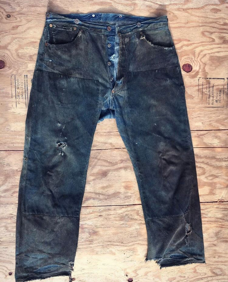 attraktive Farbe attraktive Farbe am billigsten Worn-Out Projects X Levi's 201 Jeans From Early 1900's ...