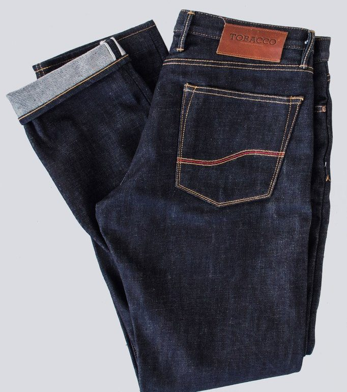 Tobacco Indigo Selvedge Protective Riding Jeans