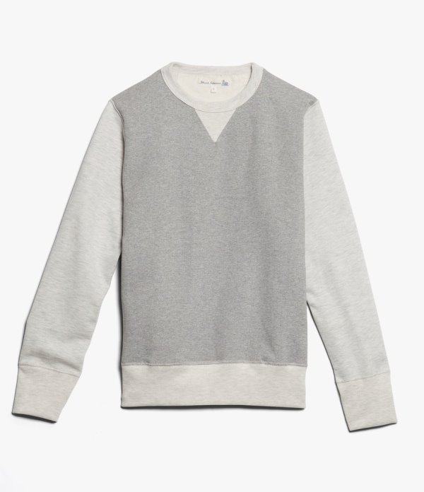 Merz b. Schwanen Two Tone Grey Sweater