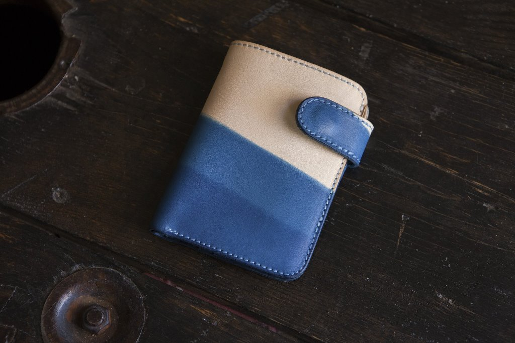 Pigeon Tree Crafting Story & Leather Indigo Wallet