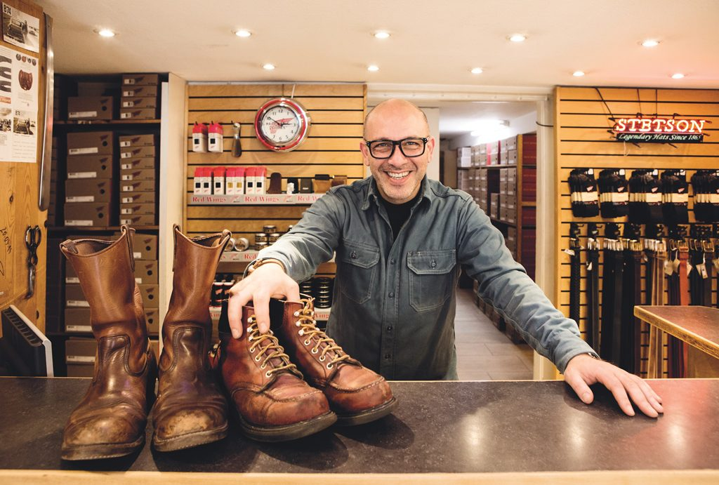 Red Wing Shoes Frankfurt Store Counter