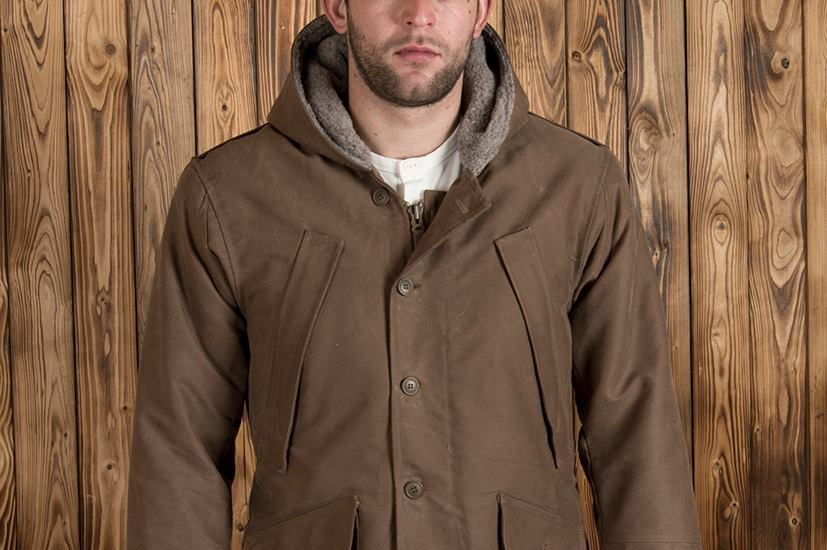 Pike Brothers 1947 N1 Deck Parka Waxed Khaki