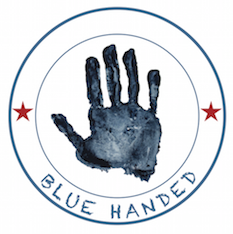 blue handed