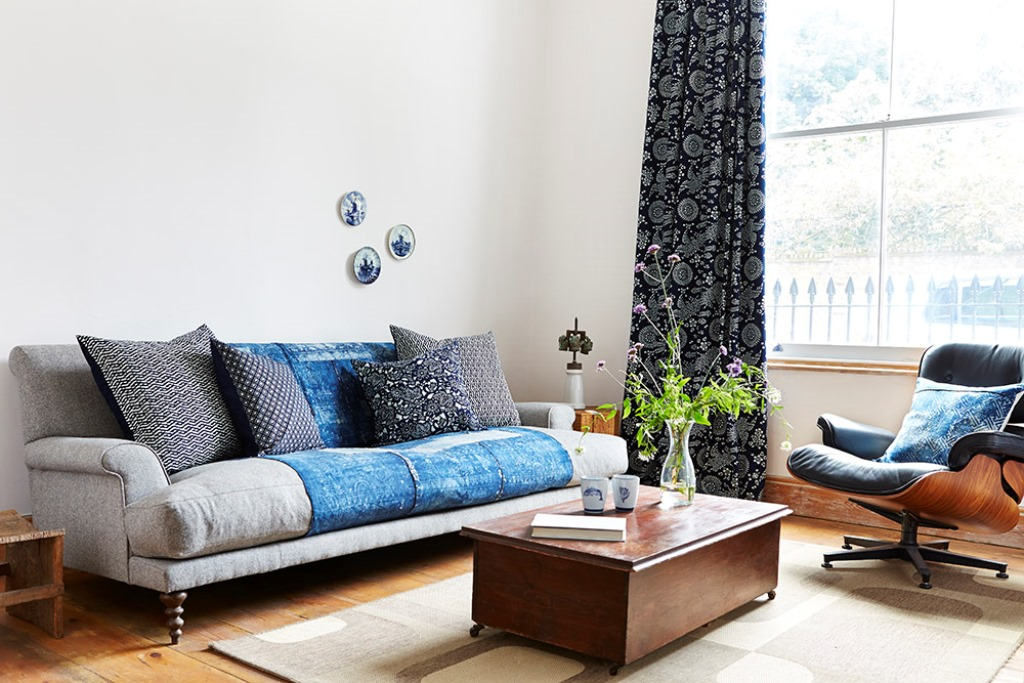 Hand Made Bluehanded Indigo Home Collection