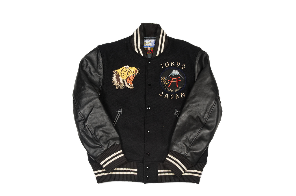 Whitesville X Tailor Toyo Leather & Wool Varsity Jacket