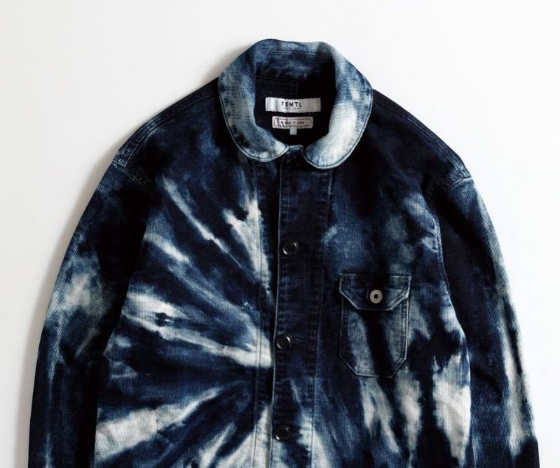 FDMTL Tie Dye Shibori Coverall Indigo Jacket
