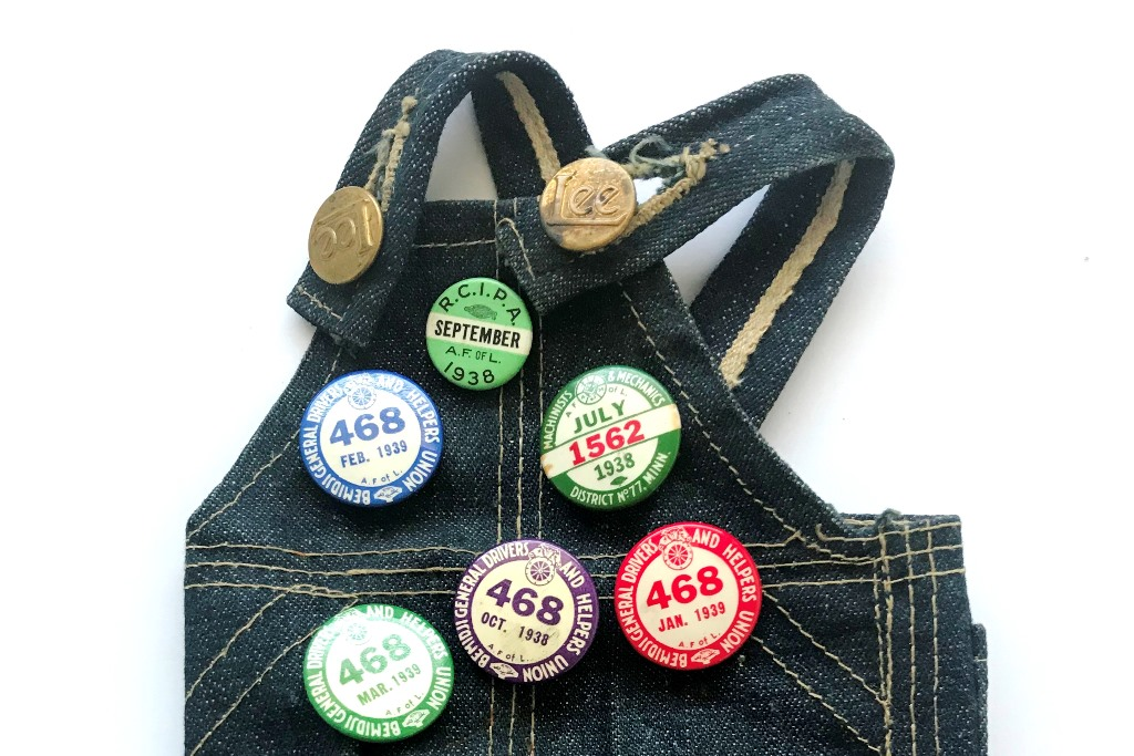 Vintage Buddy Lee Overall With Original 1930s Union Buttons