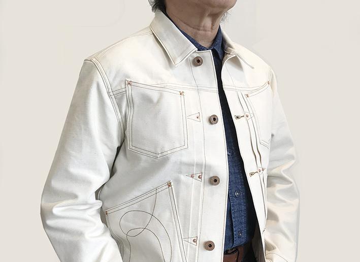 Bzen Clothing Ecru American Cowboy Jacket