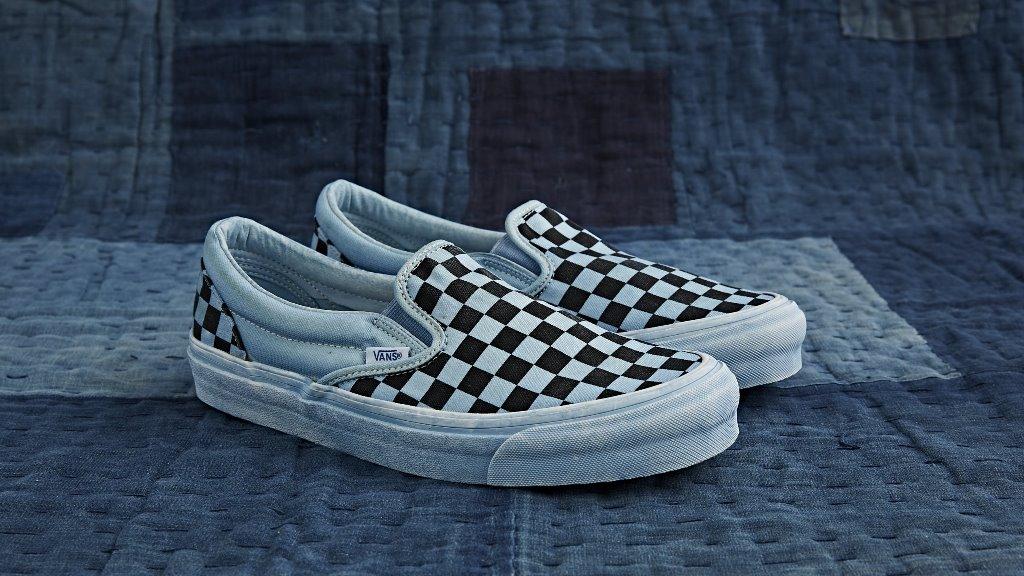 Tenue de Nîmes X Vans OG Indigo-Dye Checkerboard
