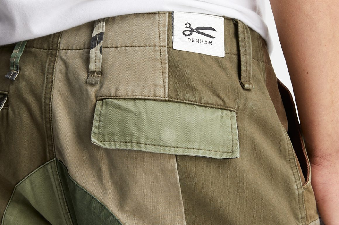 Denham Upcycled Cargo Pants From Left-Over Fabrics