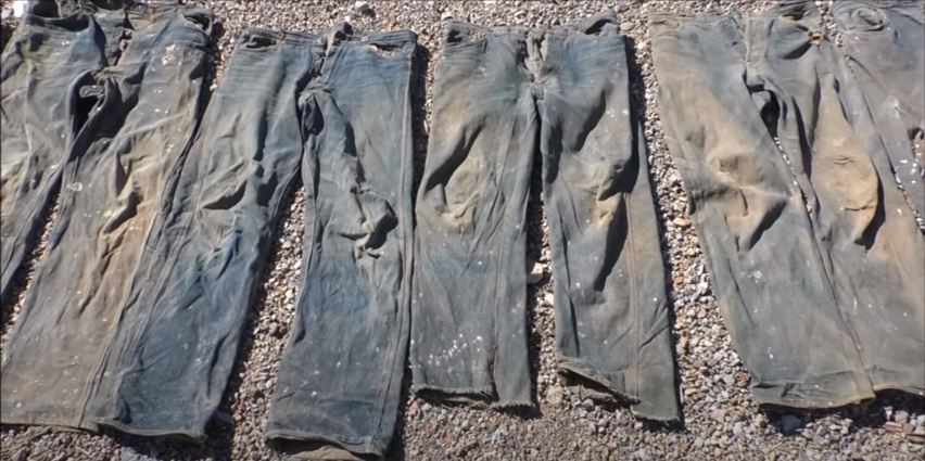 7 Pairs Of Original Miner Pants From Late 1880s Were Found