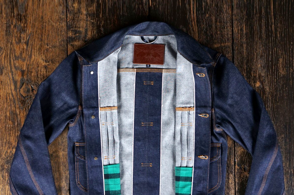 Brave Star Denim Jacket In 13.5oz Selvedge Natural Indigo Fabric