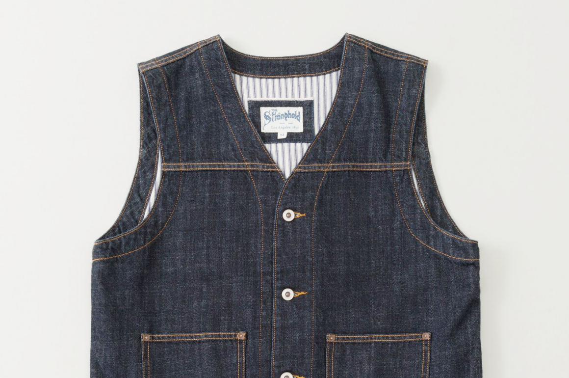 The Stronghold Selvedge Denim Work Vest