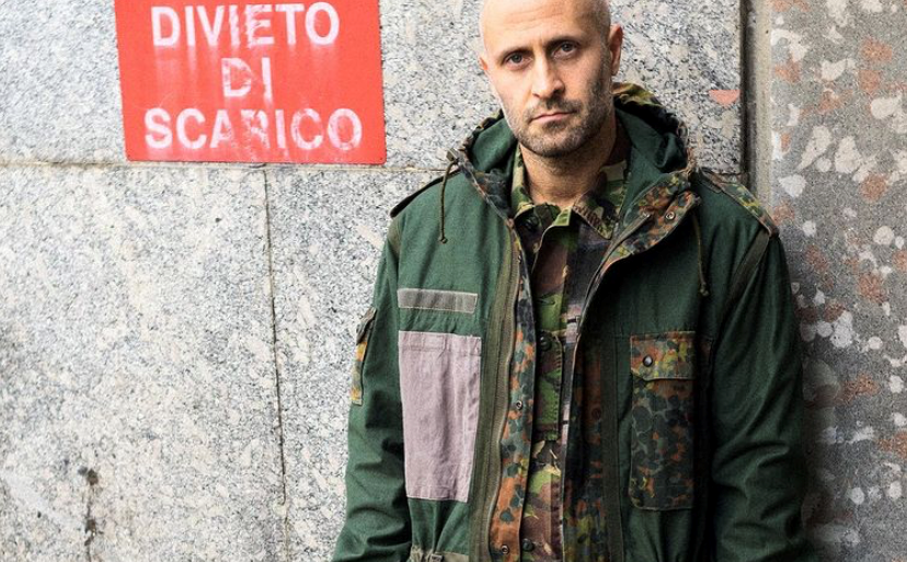 MYAR Upcycled German Army Camouflage Parka Jacket