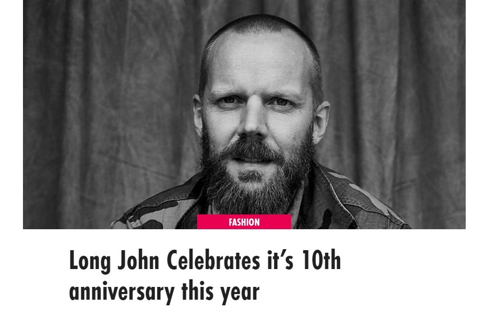 FashionUnited: Long John Celebrates It's 10th Anniversary This Year