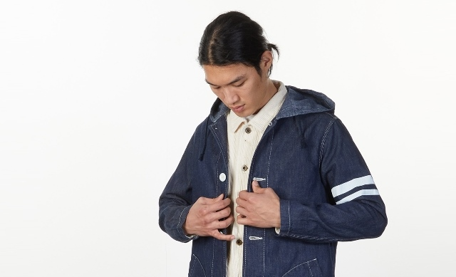 Momotaro Jeans Military Denim Coat