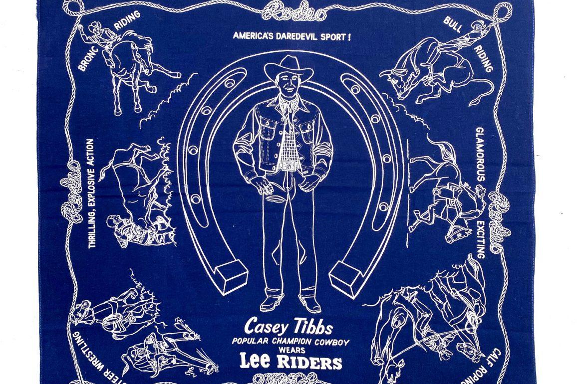 World Champion Rodeo Star Casey Tibbs On 1950s Lee Jeans Bandana