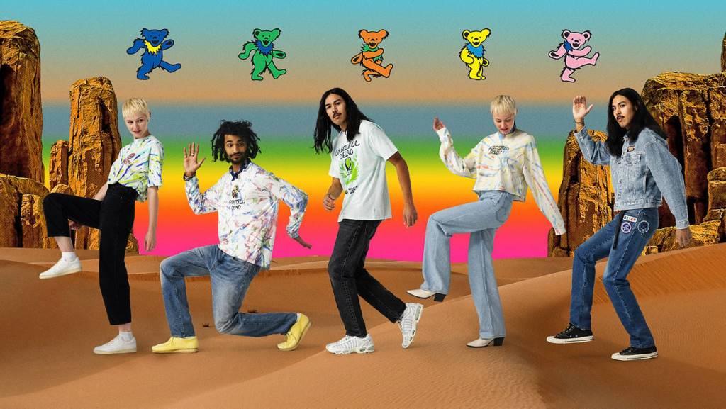 The Colorful Levi's x Grateful Dead Collaboration Collection